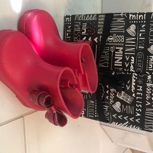 Mini Melissa toddler rain boots